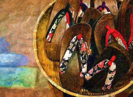 Kawaramachi, Wooden, Slippers, Craftsmanship, Japan
