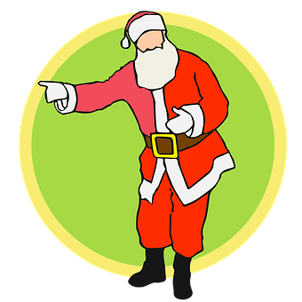 Background, Claus, Full Length, Pointing, Santa