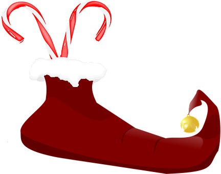 Candy Sticks, Candy, Christmas, Red, Bell, Boot, Elf