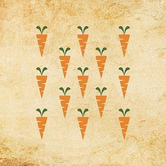 Carrot, Carrots, Vintage, Vegetables, Food, Healthy