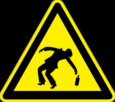 Drunken, Drunk, Alcohol, Hazard, Warning, Danger