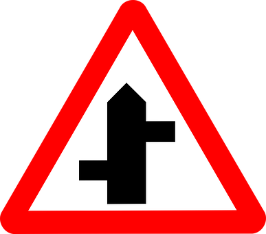 Roadsigns, Staggered, Intersecting