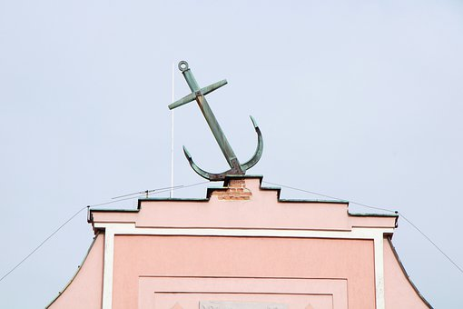 Anchor, Building, Sky, Ornament, Old