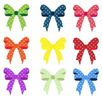 Ribbon, Ribbons, Bow, Bows, Colorful, Polka Dots, Dots