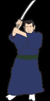 Fujitora, Issho, One Piece, Samurai, Kimono, Japan