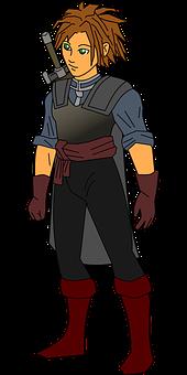 Swordsman, Warrior, Fighter, Character