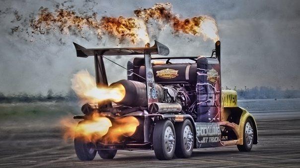 Truck On Steroids, Truck, Jet Truck, Turbines, Flames
