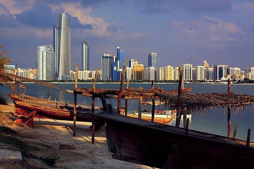 Skyline, Abu Dhabi, Skyscrapers, City, Emirates