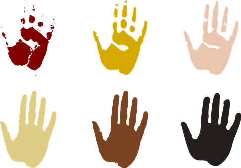 Hand Prints, Hands, Earthy, Stamp, Children, Family