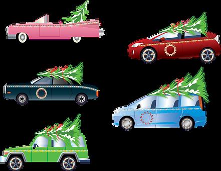 Christmas Cars, Christmas Trees, Christmas Lights