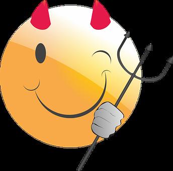 Emoticon, Smiley, Devil, Evil, Cheeky, Deceitful, Horns