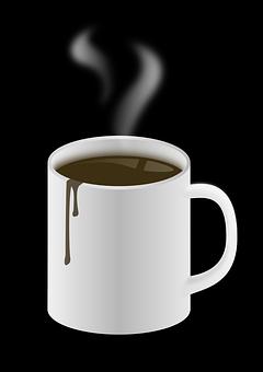 Coffee, Cup, Hot, White, Mug, Beverage, Brown, Drink