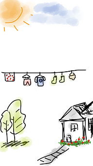 House, Laundry, Clothes, Laundry Day