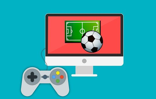 Joystick, Game, Gamepad, Football, Tv, Field, Screen