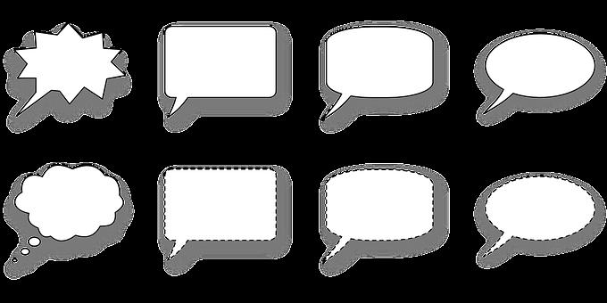 Dialogue Windows, Bubbles, Patterns, Tablet, Quote