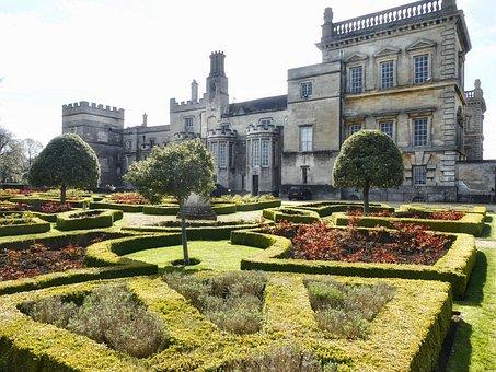 Garden, Formal, Estate, Design, Mansion, Property