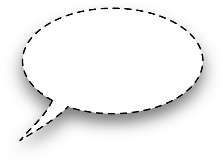 Dialogue Window, Bubble, Rounded, Dashed Line, Tablet
