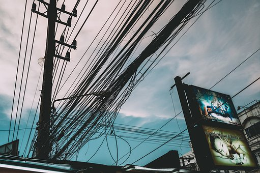 Street, Electric Cable, Electric, City, Urban, Travel