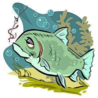 Fish, Hook, Worm, Bait, Water, Hobby, Fishing, Lure