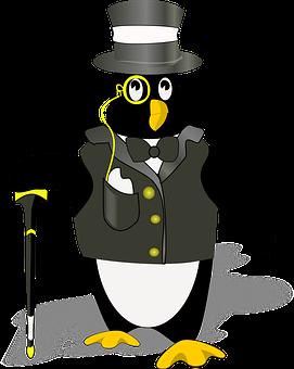 Penguin, Tux, Black, Hat, Wearing, Tuxedo, Antarctica