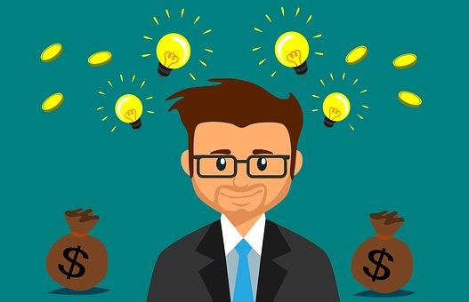 Money, Idea, Business, Man, Bulb, Capital, Crowdfunding