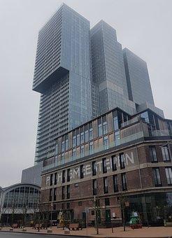 Rotterdam, Holland, Netherlands, Skyline, Mood, Modern