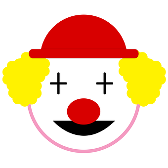 Clown, Circus, Laugh, Icon Clown, Red Nose, Red Hat, It