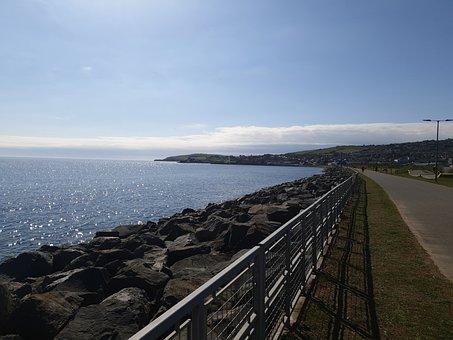 Wicklow, Harbour, Water, Sky, Sea