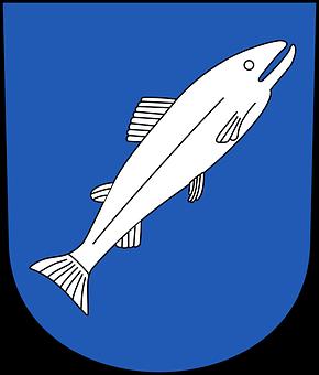 Fish, Shield, Label, Sign, Symbol, Seafood, Water