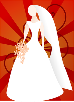 Bride, Dress, Wedding, Red, Beautiful, Female, Marriage