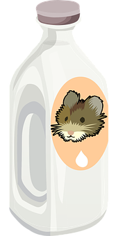 Bottle, Milk, Rat, Plastic, Toxic, White, Container