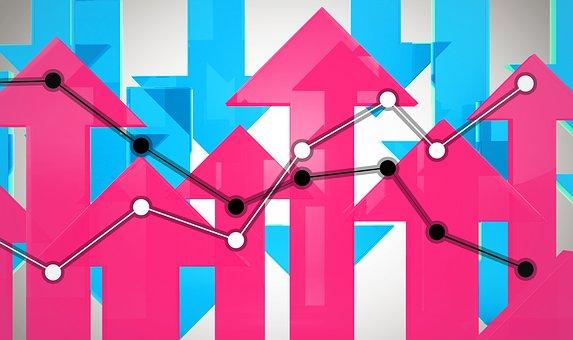 Up, Down, Graph, Arrow, Market, Figure, Rise