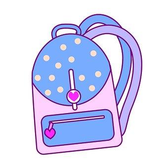 Backpack, For Girl, School, Study, Girl, Travel, Things