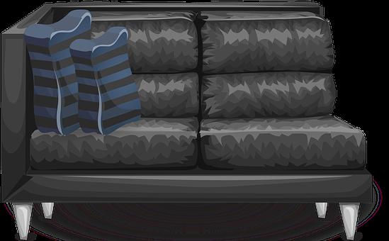 Couch, Sofa, Loveseat, Corner, Furniture, Grey, Gray