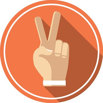 Victory, Peace, Hand, Icon, Symbol, Sign, Like