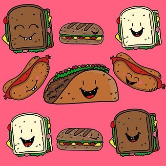 Food, Sandwiches, Filling, Bread, Tacos, Taco, Burger