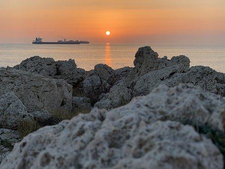 Boat, Sea, Landscape, Side, Rocks