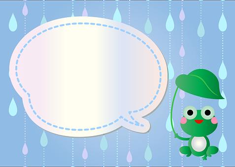Frog Background, Rainy, Spring Digital Paper, Frog