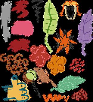 Icon, Shapes, Foliage, Fľak, Star, Flower, Hand