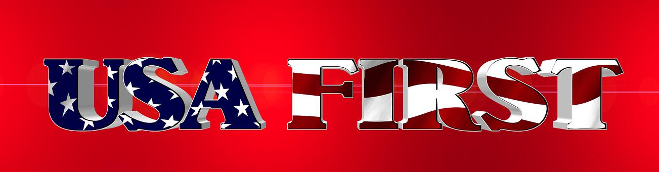Usa, Trump, First, America, Flag