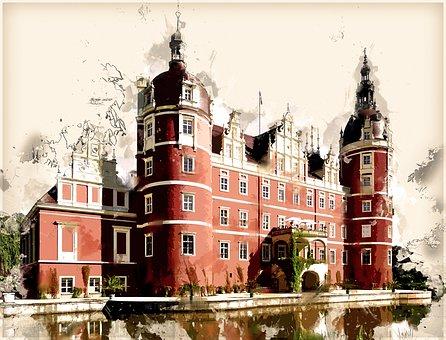 Germany, Bad Muskau, World Heritage, Places Of Interest