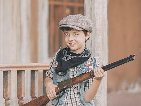 Gun, Cowboy, Boy, Hunter, Bandit, Bully, Western