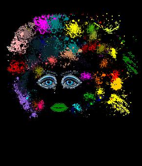 Sad, Eyes, Colours, Face, Tears, Afro