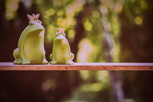 Frog Prince, Frogs, Ceramic, Figures