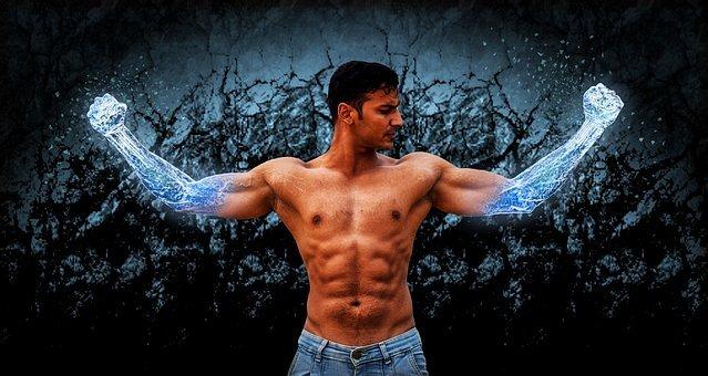 Muscle, Magic, Wizard, Super, Hero, Man, Male, Frozen