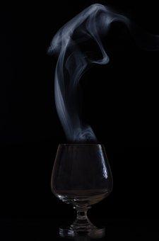 Glass, Smoke, Whisky, Magic, Empty, Blank