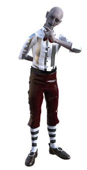 Character, Full Body, House Brownie, Male, Pointing