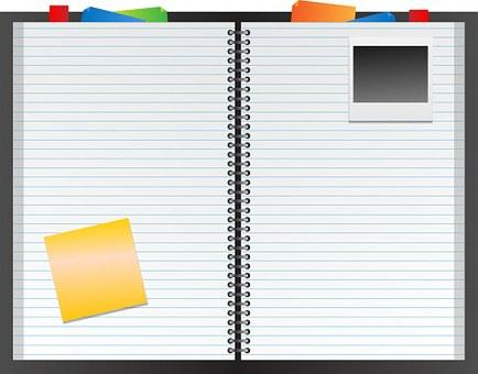 Notebook, Filofax, Folio, Scrapbook
