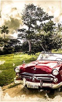 Cuba, Oldtimer, Automobile, Transportation, Technic