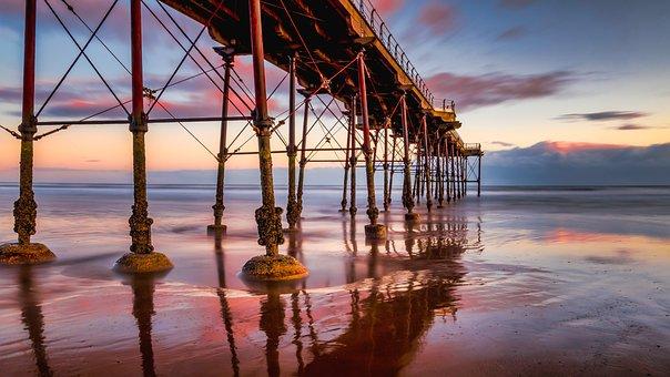 Saltburn Pier, Saltburn Beach, Saltburn By The Sea